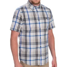DC Shoes Take Back Shirt - Button Front, Short Sleeve (For Men) in Blue Plaid - Closeouts