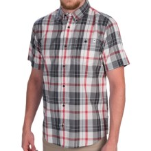 DC Shoes Take Back Shirt - Button Front, Short Sleeve (For Men) in Red Plaid - Closeouts