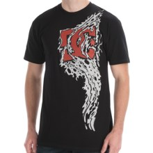 DC Shoes Tital T-Shirt - Short Sleeve (For Men) in Black - Closeouts