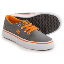 DC Shoes Trase TX Shoes (For Little and Big Boys) in Grey/Orange - Closeouts