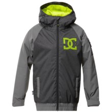DC Shoes Troop Snow Jacket - Insulated (For Boys) in Caviar - Closeouts