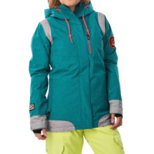 DC Shoes Truce Snowboard Jacket - Waterproof, Insulated (For Women) in Harbor Blue - Closeouts