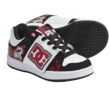 DC Shoes Turbo 2 Wild Grinders Skate Shoes (For Boys) in White/Black/Red - Closeouts