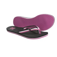 DC Shoes Twister Sandals - Flip-Flops (or Women) in Black/Crazy Pink - Closeouts