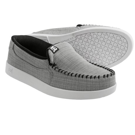 DC Shoes Villain TX Shoes - Slip-Ons (For Men) in Grey/Black/White