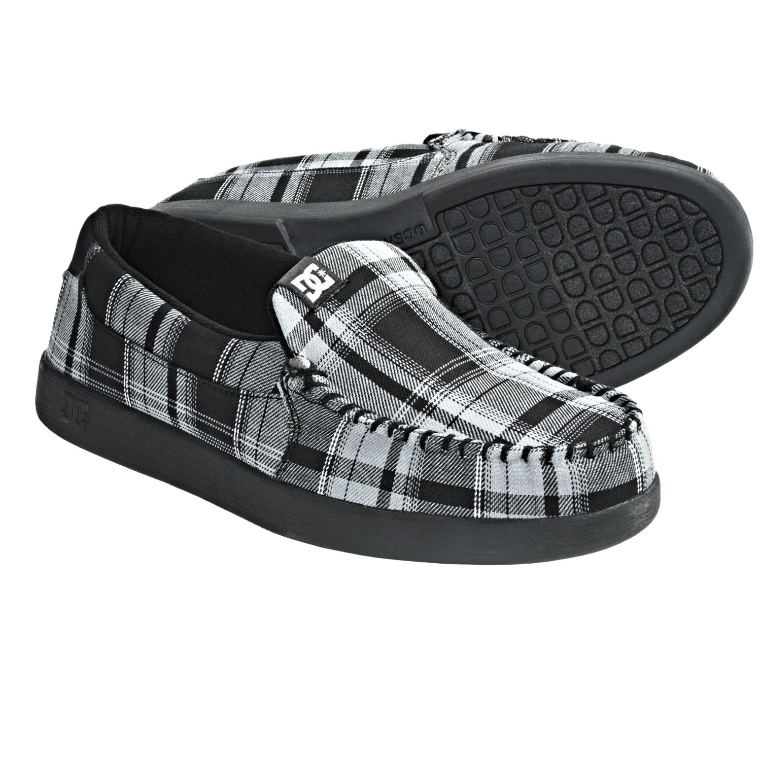 DC Shoes Villain TX Shoes - Slip-Ons (For Men) in Grey/Black