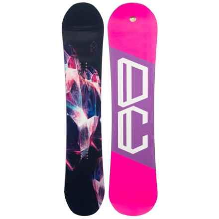 DC Shoes W. Ply Truebase Snowboard (For Women) in Geode W/Neon Pink/Purple/White Logo - Closeouts