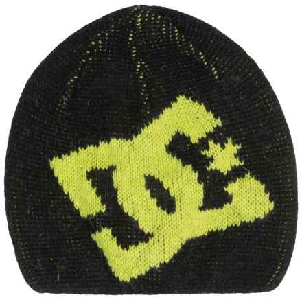 DC Shoes Wane Boy Beanie - Wool Blend (For Boys) in Anthracite - Closeouts