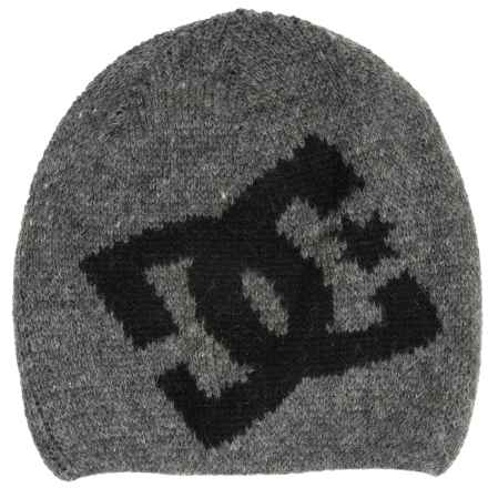 DC Shoes Wane Boy Beanie - Wool Blend (For Boys) in Heather Grey - Closeouts