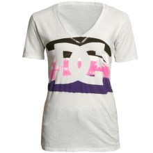 DC Shoes Who What Where T-Shirt - Cotton Jersey, Short Sleeve (For Women) in Victorias Black - Closeouts