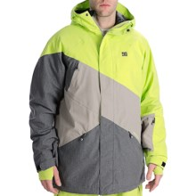 DC Shoes Wishbone Snowboard Jacket - Waterproof, Insulated (For Men) in Lime/Shadow/Alloy - Closeouts