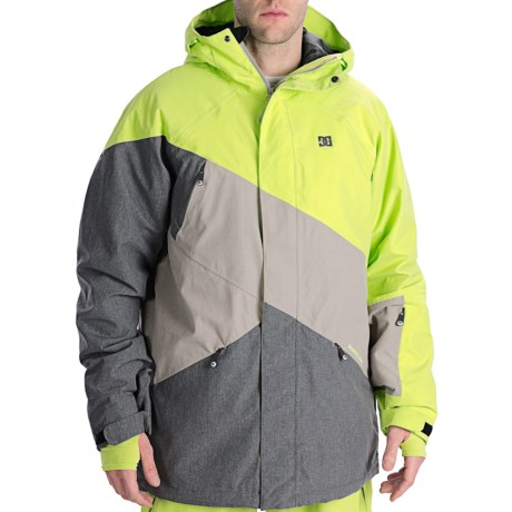 DC Shoes Wishbone Snowboard Jacket - Waterproof, Insulated (For Men) in Lime/Shadow/Alloy