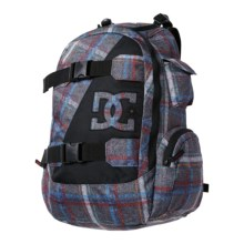 DC Shoes Wolfbred Backpack (For Men) in Pewter/Plaid 1 - Closeouts