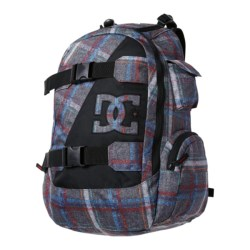 DC Shoes Wolfbred Backpack (For Men) in Pewter/Plaid 1