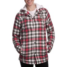 DC Shoes Woodbury Flannel Shirt Jacket - Insulated (For Women) in White - Closeouts