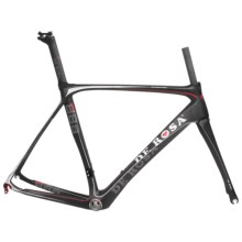 De Rosa Super King E Frame Set in Black/Silver - Closeouts