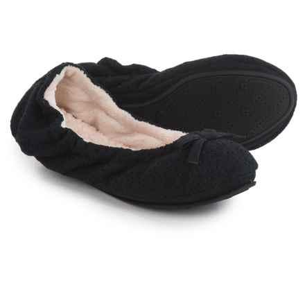 Dearfoams Ballerina Bedroom Slippers (For Women) in Black - Closeouts
