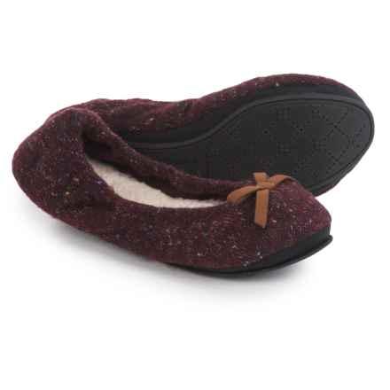 Dearfoams Ballerina Bedroom Slippers (For Women) in Cabernet - Closeouts