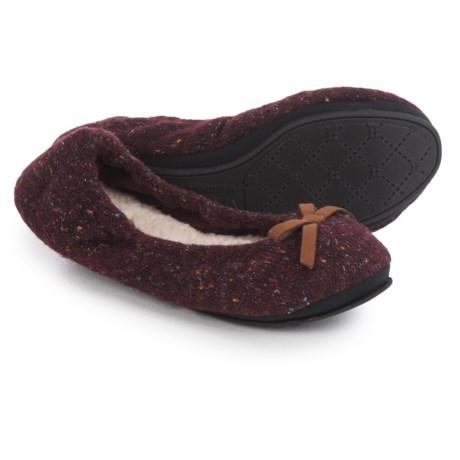 Dearfoams Ballerina Bedroom Slippers (For Women) - Save 73%