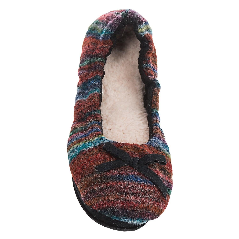 Dearfoams Ballerina Bedroom Slippers For Women