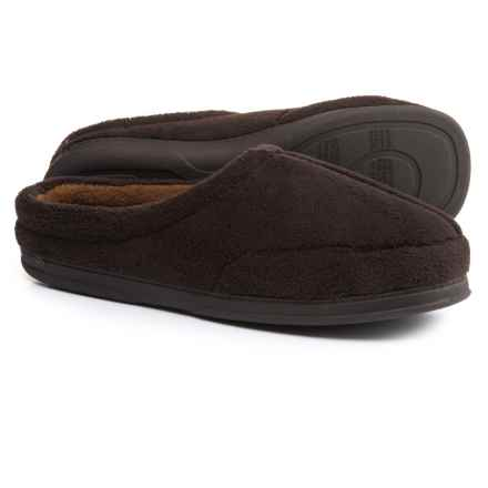 Dearfoams Micro Terry Clog Slippers (For Men) in Cofee - Closeouts