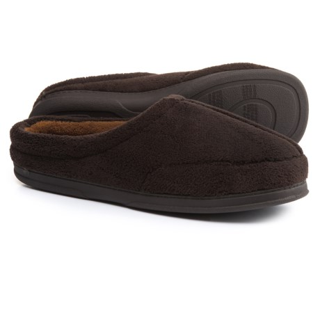 Dearfoams Micro Terry Clog Slippers (For Men) in Cofee