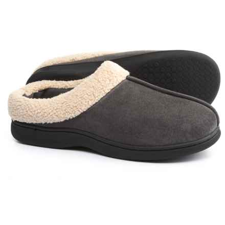 Dearfoams Microfiber Clog Slippers (For Men) in Pavement - Closeouts