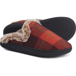dearfoams-plaid-closed-toe-scuff-slipper