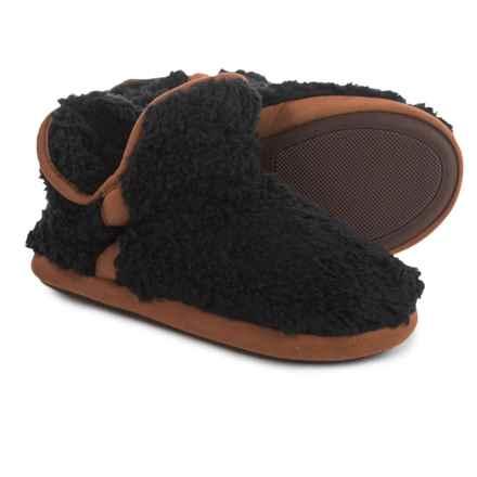 Dearfoams Short Pile Boot Slippers (For Women) in Black - Closeouts