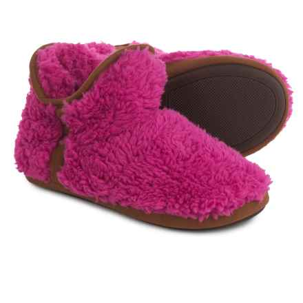 Dearfoams Short Pile Boot Slippers (For Women) in Pink Pinata - Closeouts