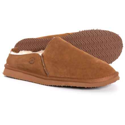 Dearfoams Suede Clog Slippers (For Men) in Chestnut - Closeouts