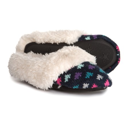 ae92faf9f8 Dearfoams Sweater Knit Clog Slippers (For Girls) in Paradise Pink -  Closeouts