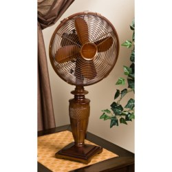 Deco Breeze Bali Oscillating Table Fan in Brown