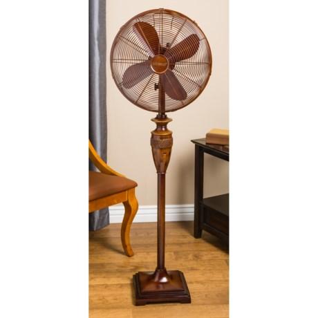 """Deco Breeze Bali Standing Floor Fan - 54"""" in Brown"""