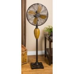 "Deco Breeze Kailua Standing Floor Fan - 53"" in Dual Tone Brown"