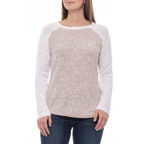 Image of Deco Rose Two-Tone Crew Sweater (For Women)