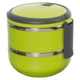 Deco Round Two-Tier Tiffin Stackable Lunch Box