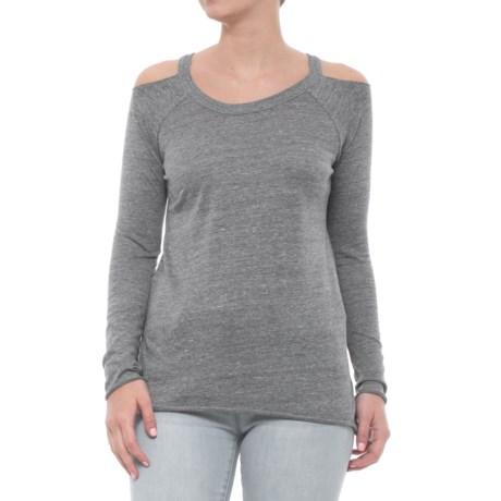 Deconstructed Cold-Shoulder T-Shirt - Long Sleeve (For Women)