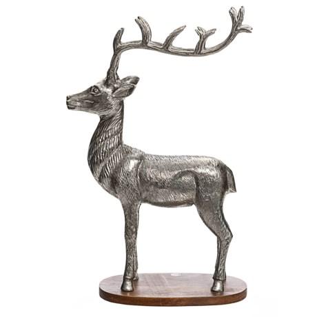 Image Decorative Reindeer on Wood Base - 19x13?