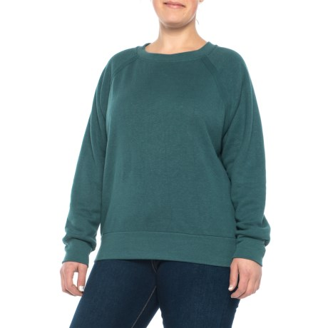 Image of Deep Balsam Heather Cozy Up Sweatshirt (For Plus Women)