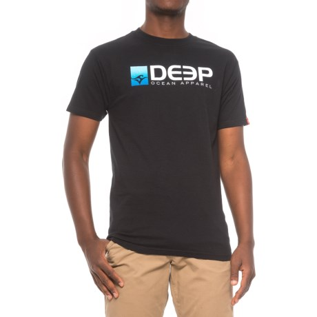 Deep DEEP Cotton Logo T-Shirt - Crew Neck, Short Sleeve (For Men) in Black