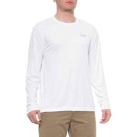 ae4cdfee906 Deep High-Performance Shirt - Long Sleeve (For Men) in White/Seafoam