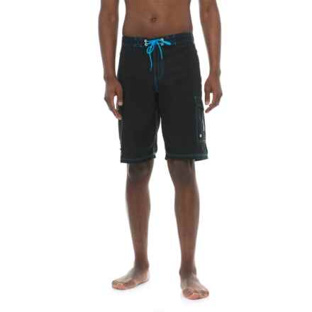 Deep Hydro-Freak Boardshorts (For Men) in Black - Closeouts