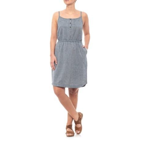 Image of Deep Navy Festivator Dress - Organic Cotton, Sleeveless (For Women)