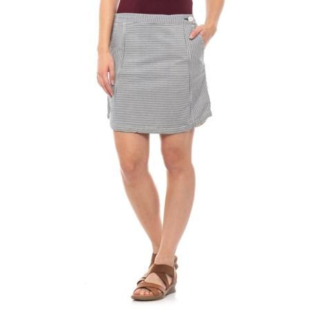 Image of Deep Navy Seersucka Skirt - Organic Cotton (For Women)