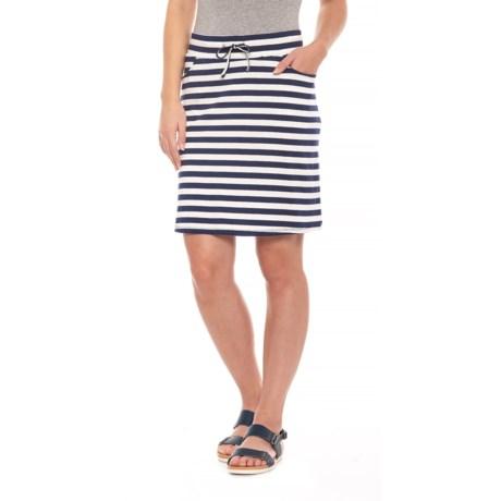 Image of Deep Navy Stripe Tica Skirt (For Women)