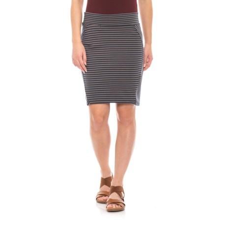 Image of Deep Navy Stripe Transita Skirt - UPF 40+ (For Women)