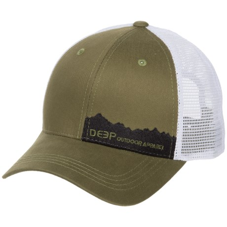 Deep Range Trucker Hat in Olive