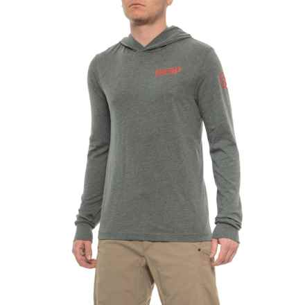 Deep Triblend Performance Hoodie - Long Sleeve (For Men) in Grey - Closeouts