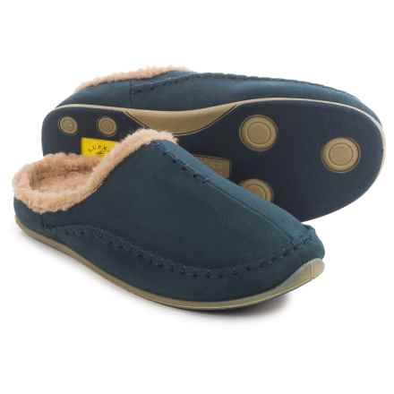 Deer Stags Arctic Slippers (For Men) in Navy - Closeouts